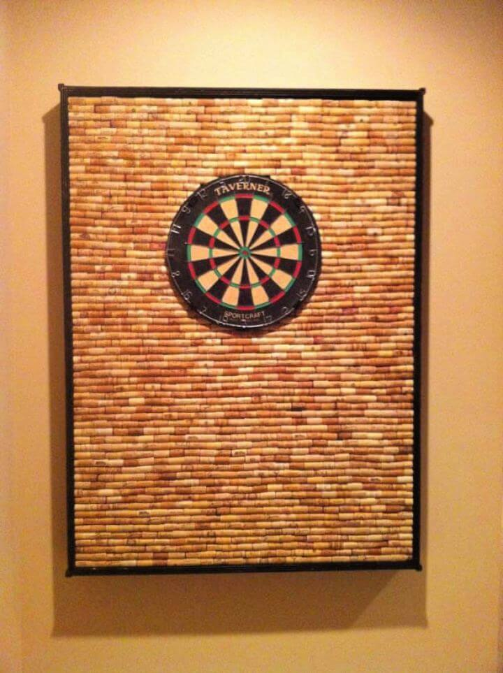 How To Create A DIY Corkwall Dart Board For Men