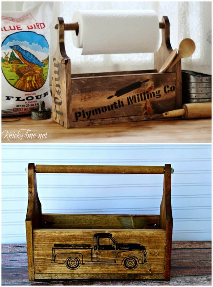 How To Create A DIY Farmhouse Wood Tote