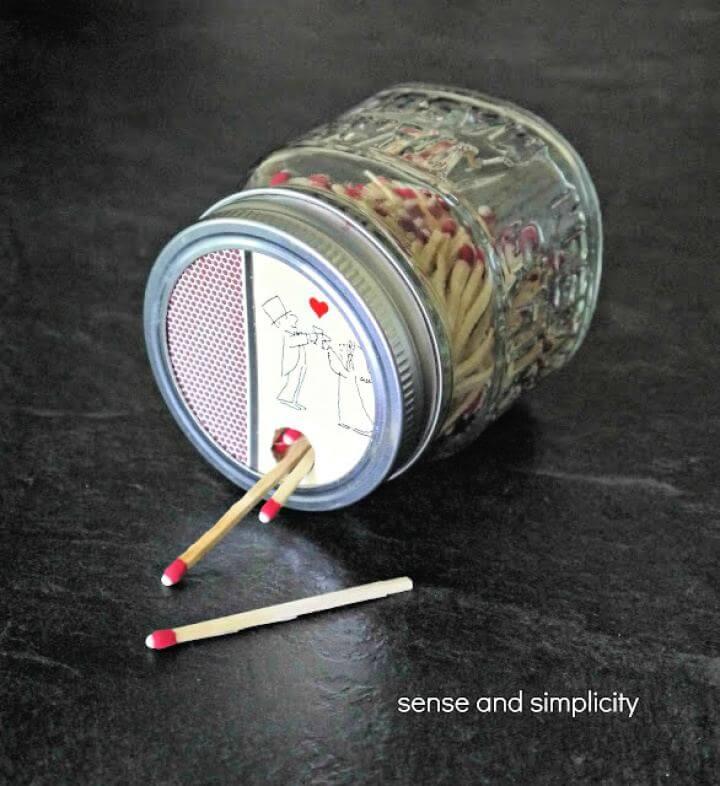 How To Create A DIY Mason Jar Matchbox
