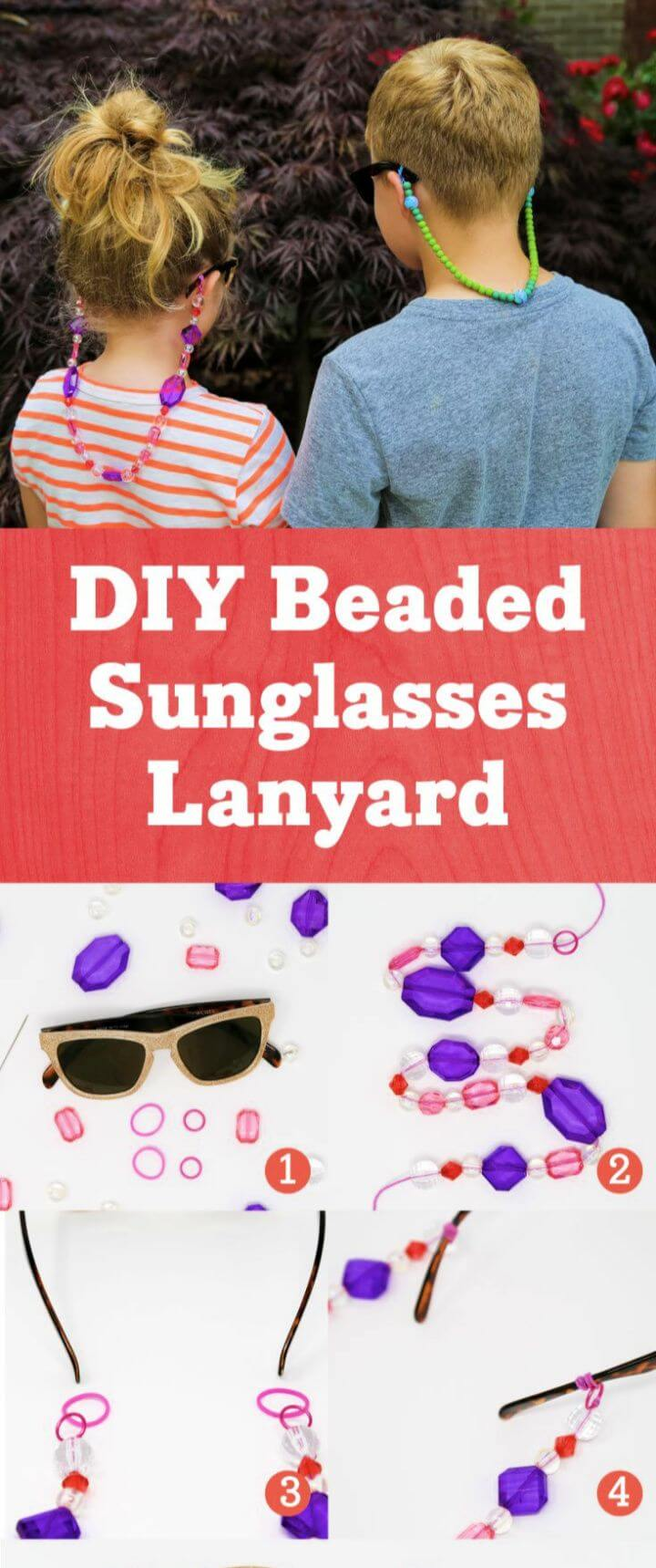 How To Create DIY Beaded Sunglasses Lanyard