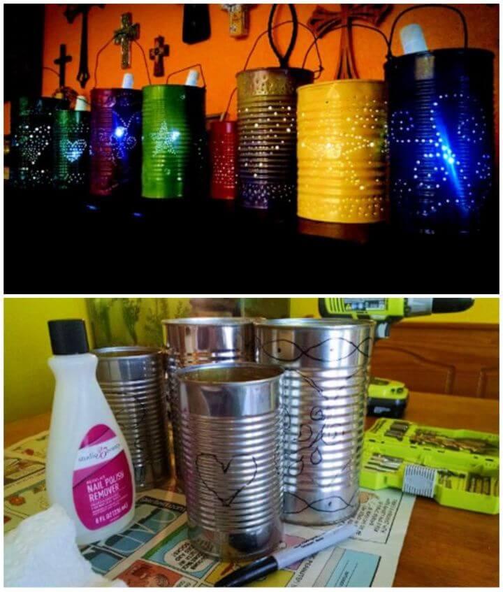 How To Create DIY Tin Can Solar Lights