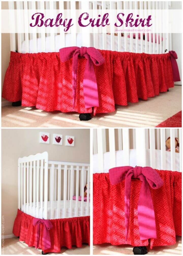 How To Create Your Own DIY Baby Crib Skirt