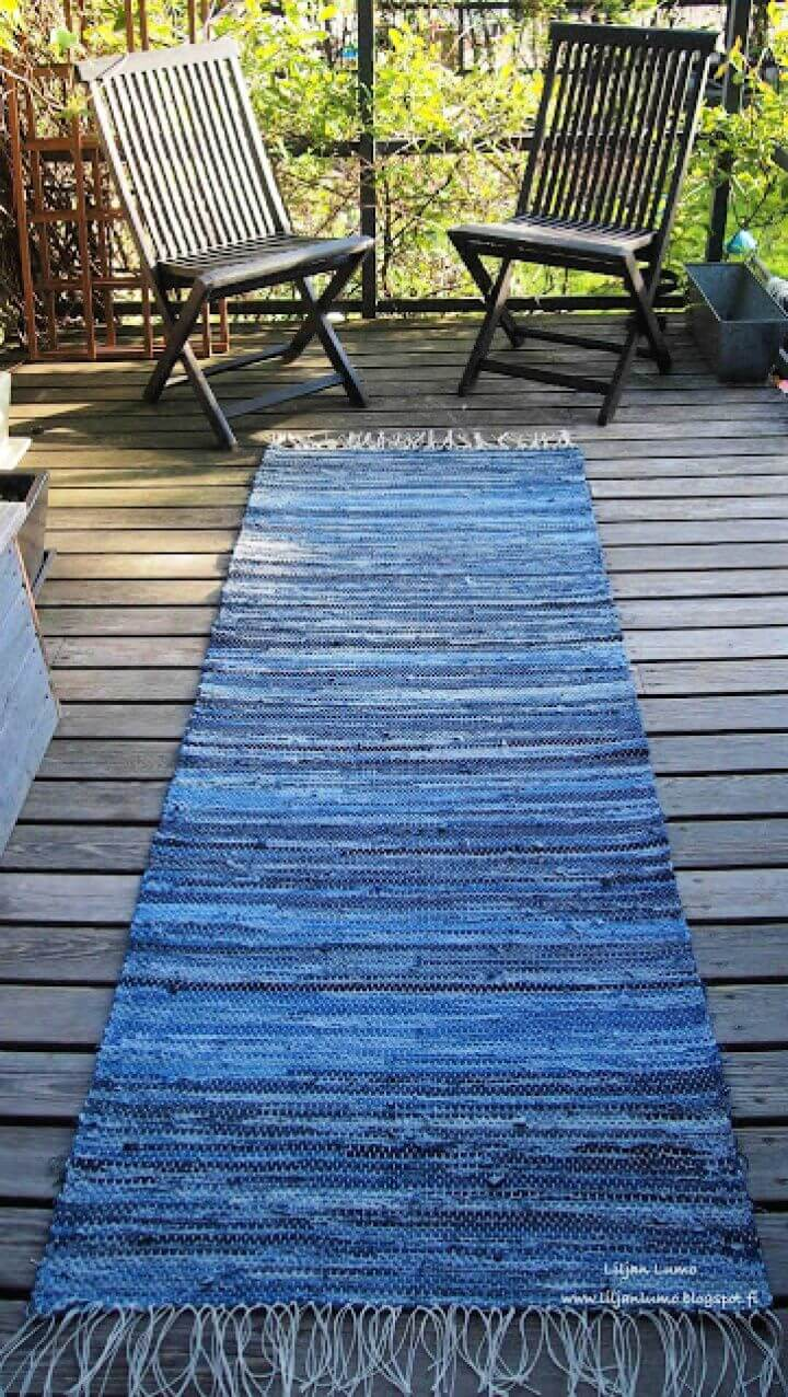 How To Create Your Own DIY Blue Jeans Runner