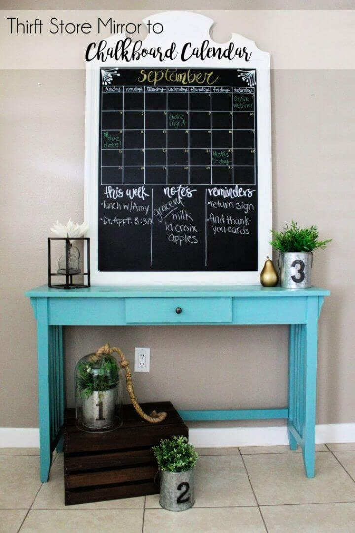 How To Create Your Own DIY Mirror Calendar