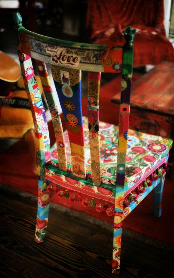 How To Create Your Own Decoupaged Chair