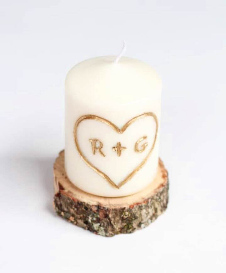 How To DIY Candle Carved With Initials