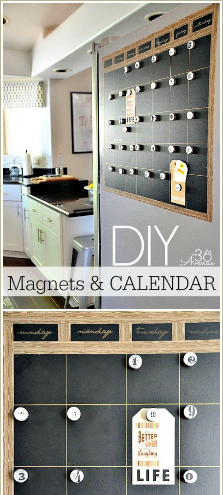 How To DIY Chalkboard Magnetic Calendar