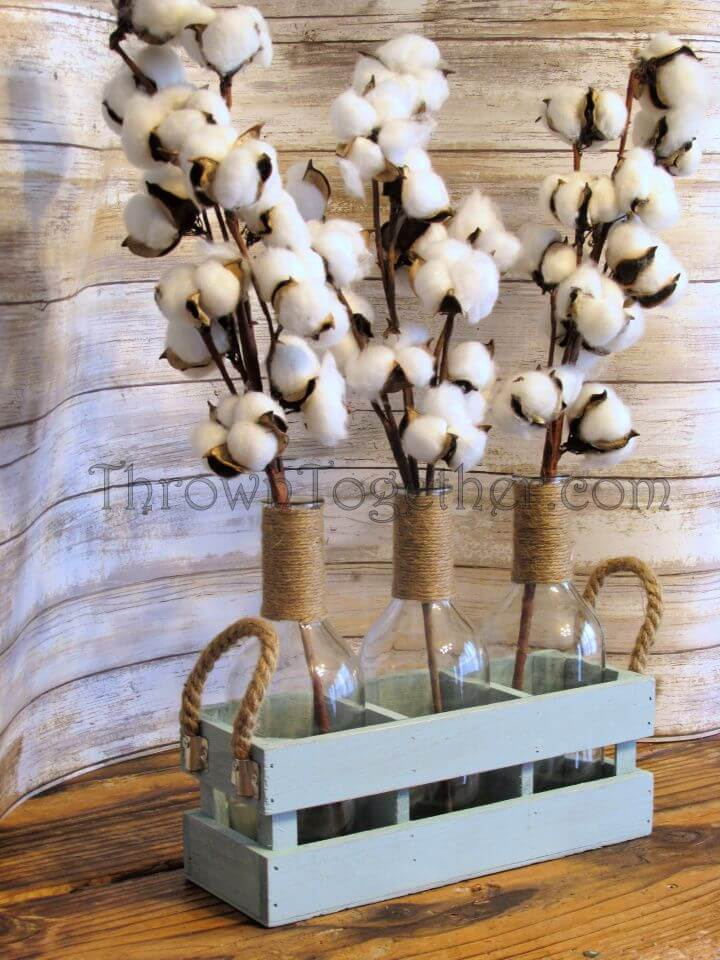 How To DIY Cotton Centerpiece