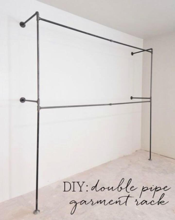 How To DIY Double Pipe Garment Rack