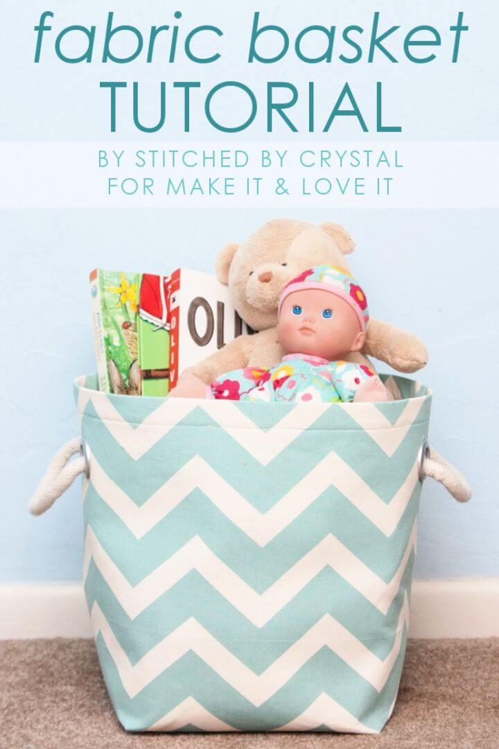 How To DIY Fabric Storage Basket