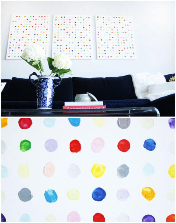 How To DIY Happy Dots Wall Art
