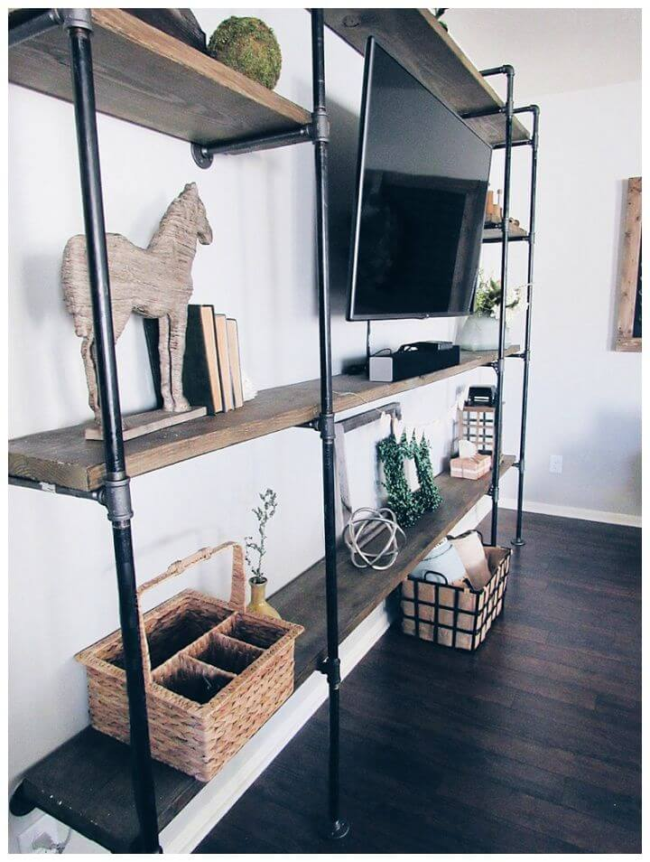 How To DIY Industrial Entertainment Center