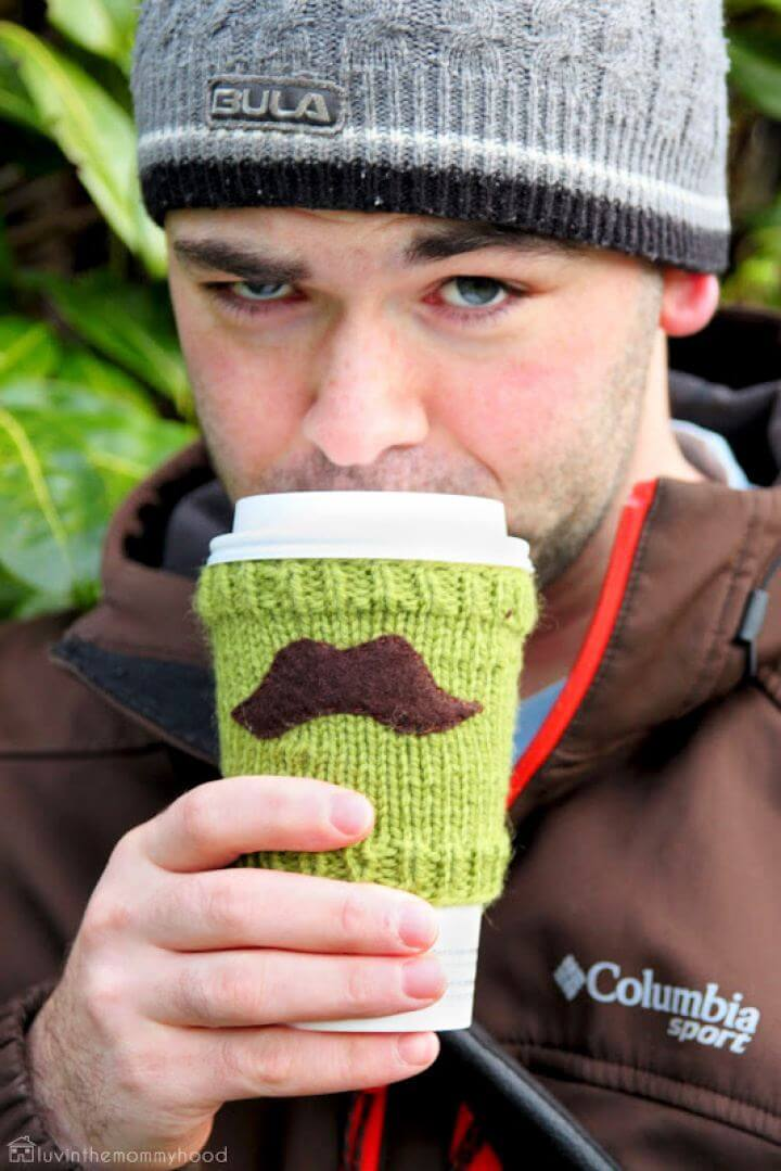 How To DIY Mustache Cup Cozy