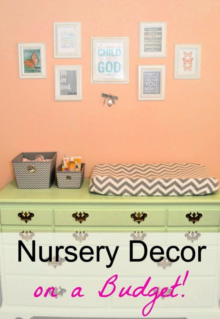 How To DIY Nursery Decor On A Budget