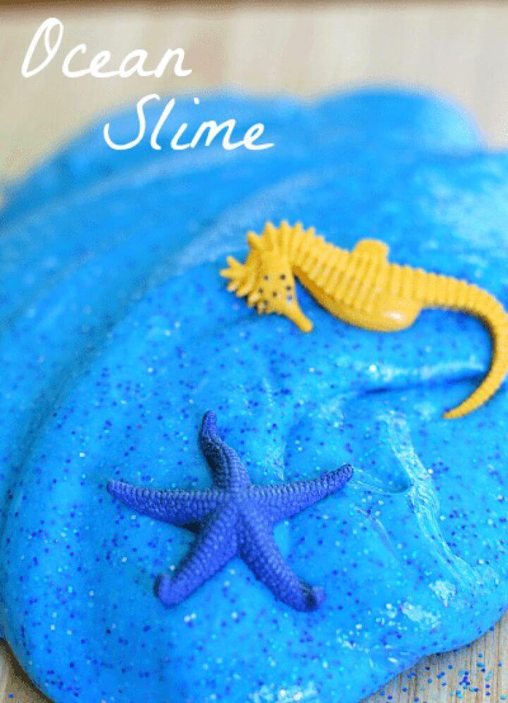 How To DIY Ocean Slime Recipe