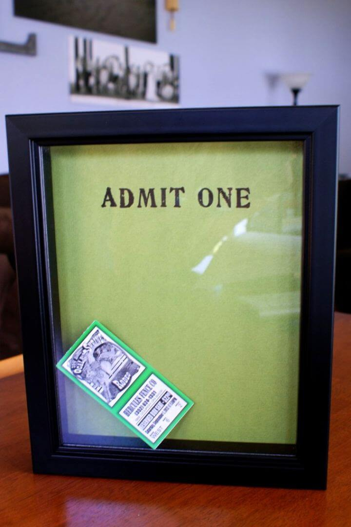 How To DIY Ticket Stub Memory Box