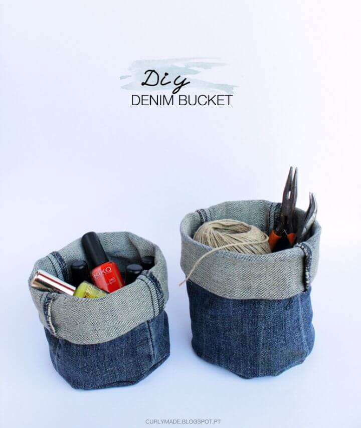 How To DIY Upcycled Denim Bucket