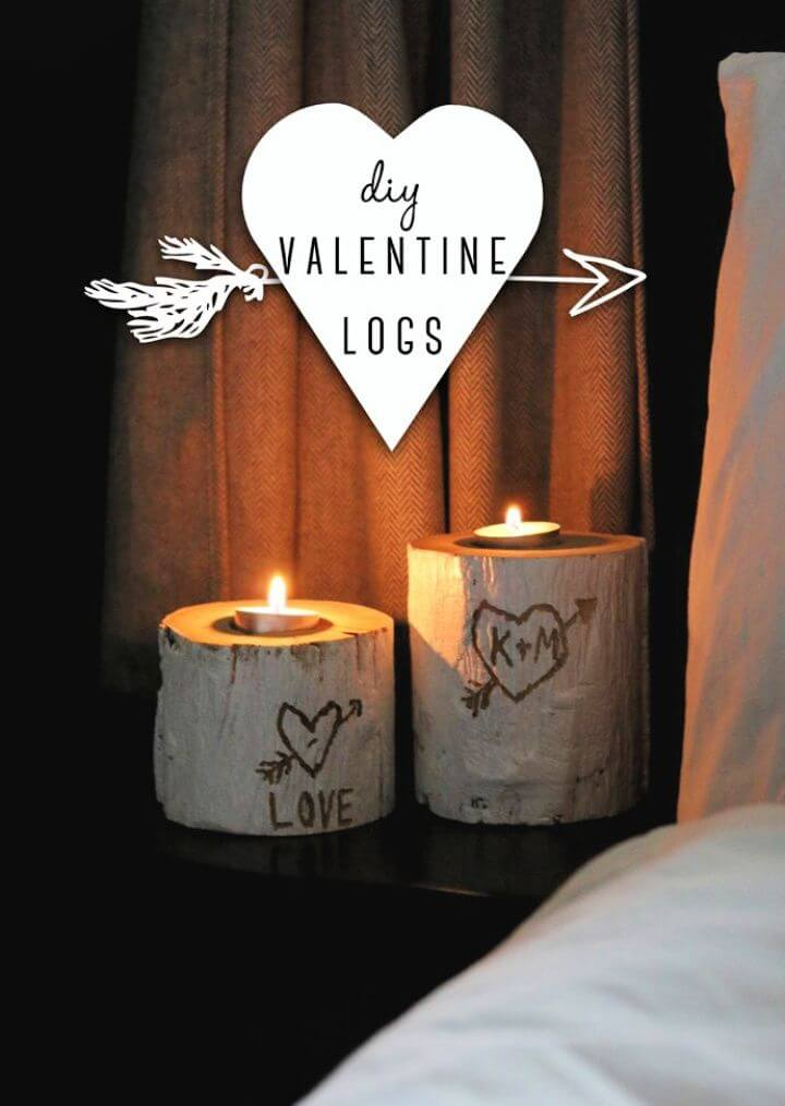 How To DIY Valentine Logs Tutorial