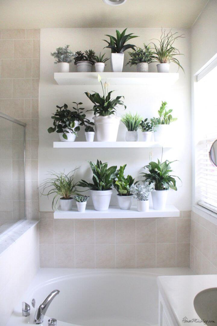 How To DIY White Plant Wall