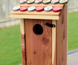 How To Make A Bottle Cap Birdhouse