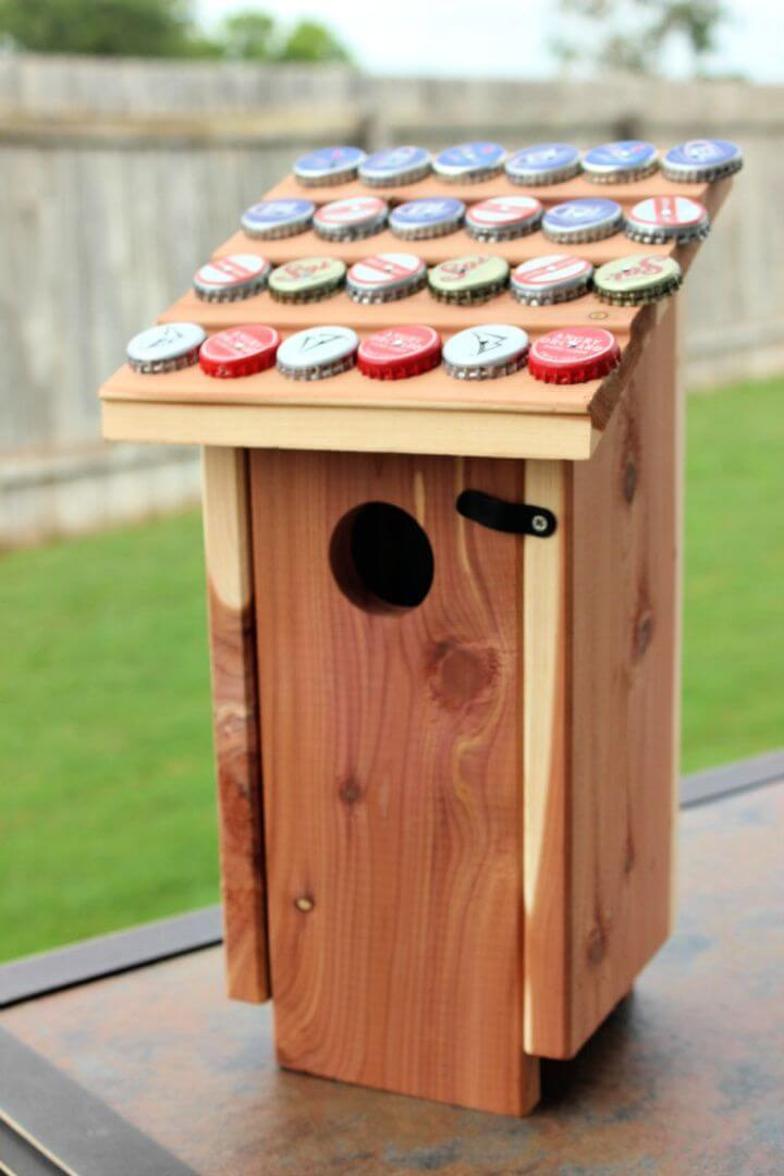 How To Make A Bottle Cap Birdhouse