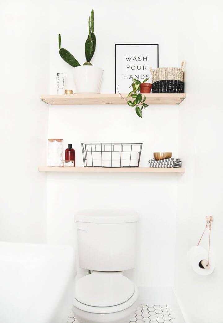 How To Make A DIY Bathroom Shelves