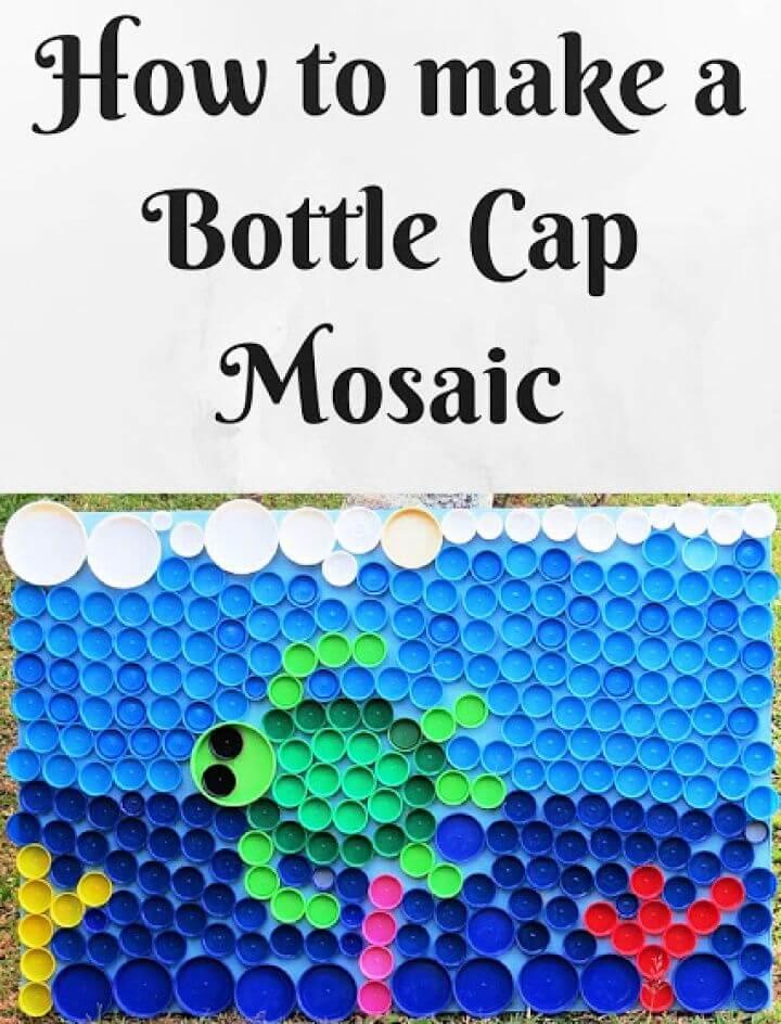 How To Make A DIY Bottle Cap Mosaic