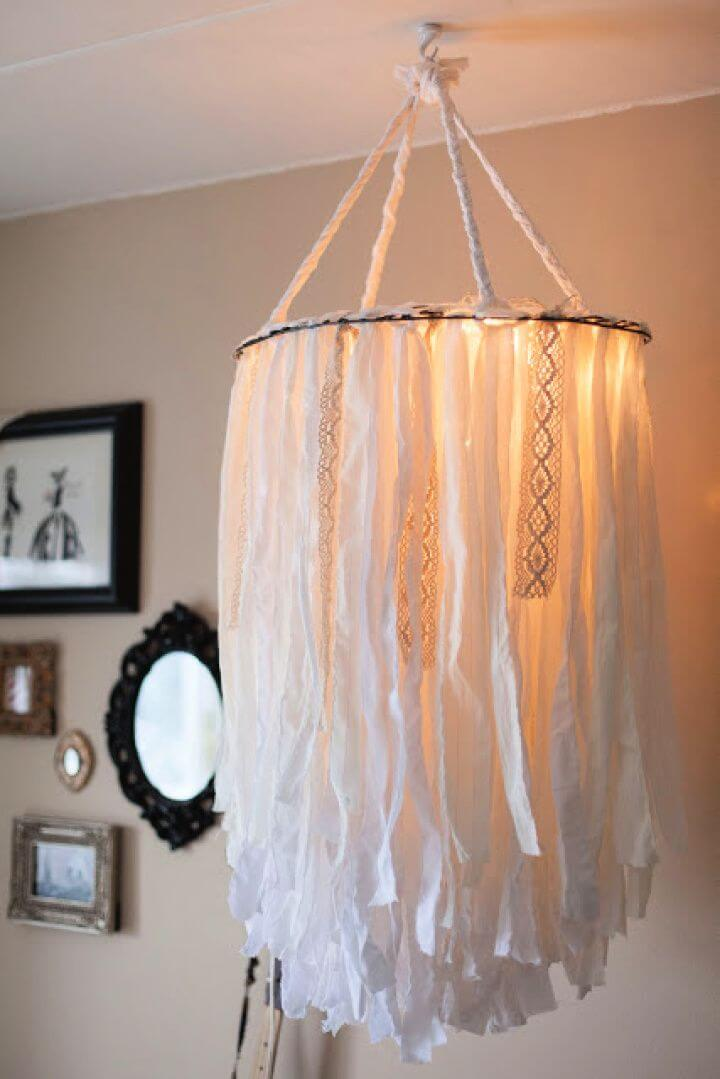 How To Make A DIY Cloth Chandelier
