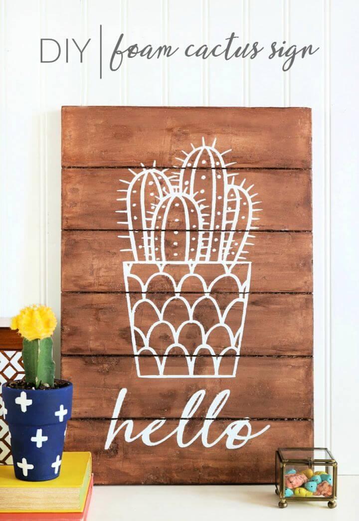 How To Make A DIY Foam Cactus Sign