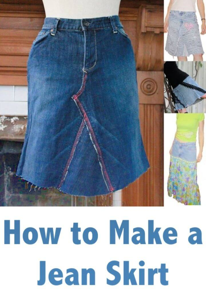 How To Make A DIY Jean Skirt
