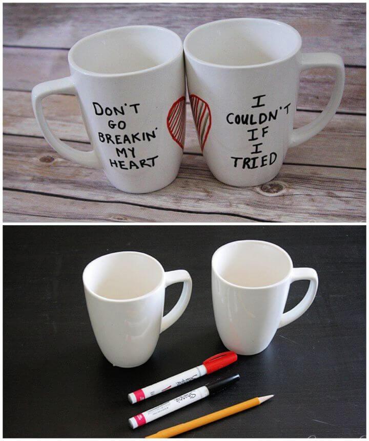 How To Make A DIY Sharpie Mugs For Girlfriend