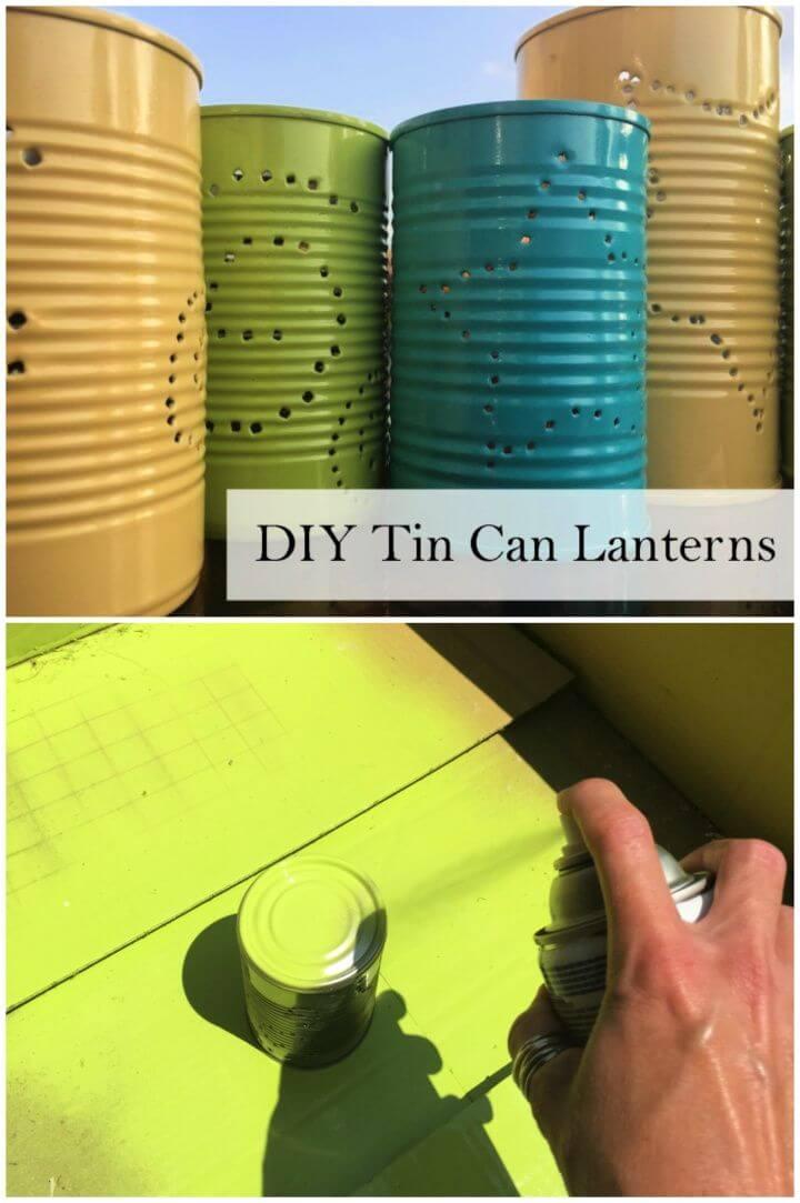 How To Make A DIY Tin Can Lanterns
