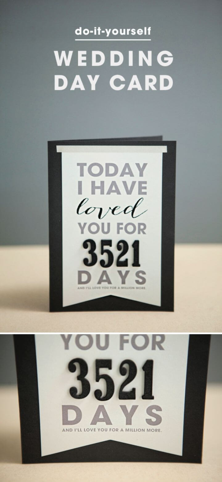 How To Make A DIY Wedding Day Card