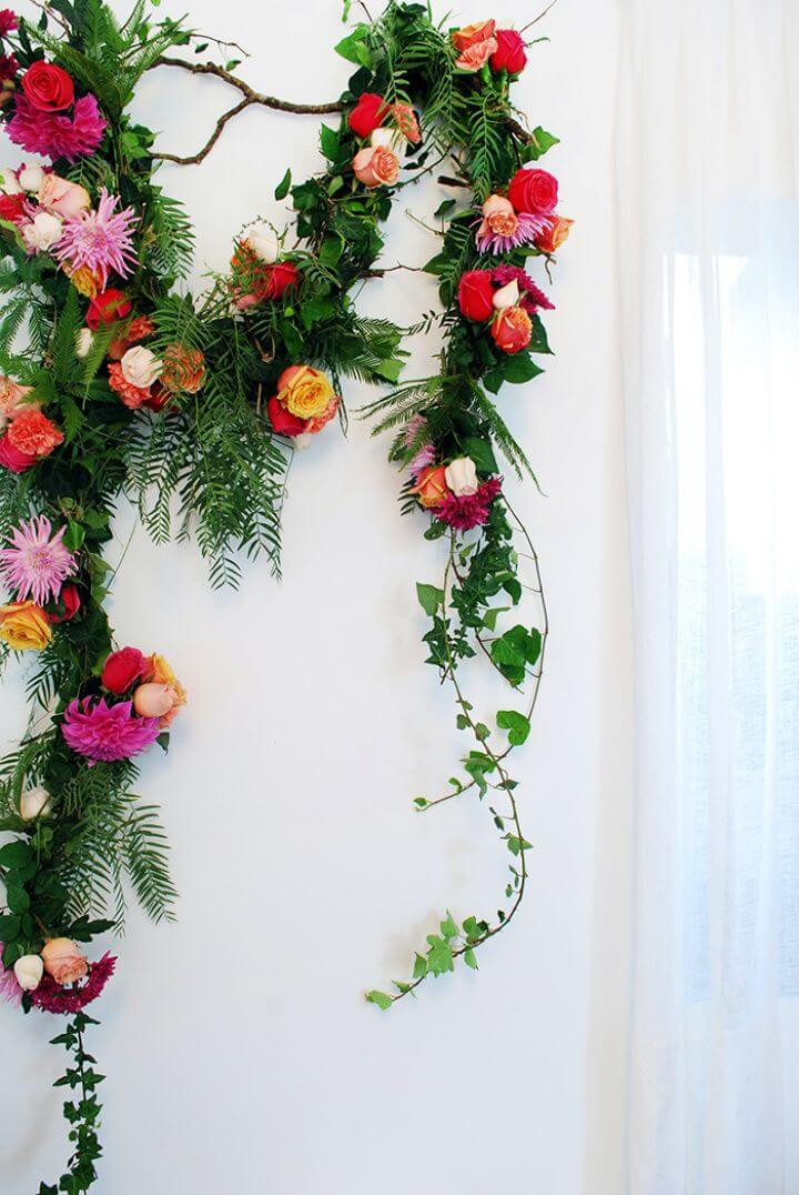 How To Make A Fresh Flower Garland For Wedding