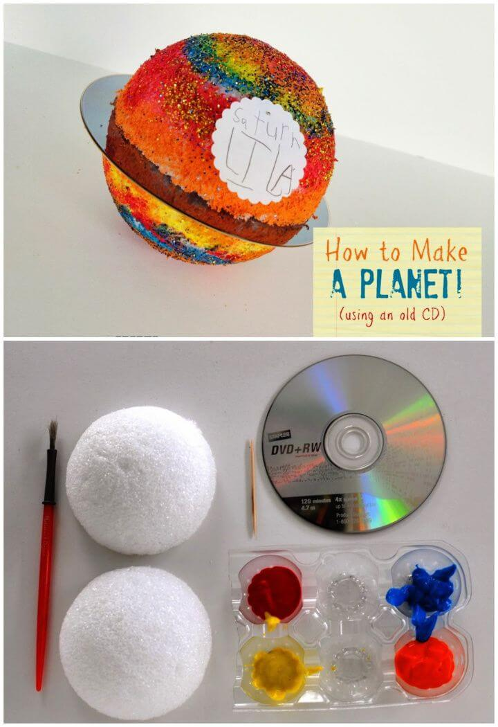 How To Make A Planet With An Old CDs