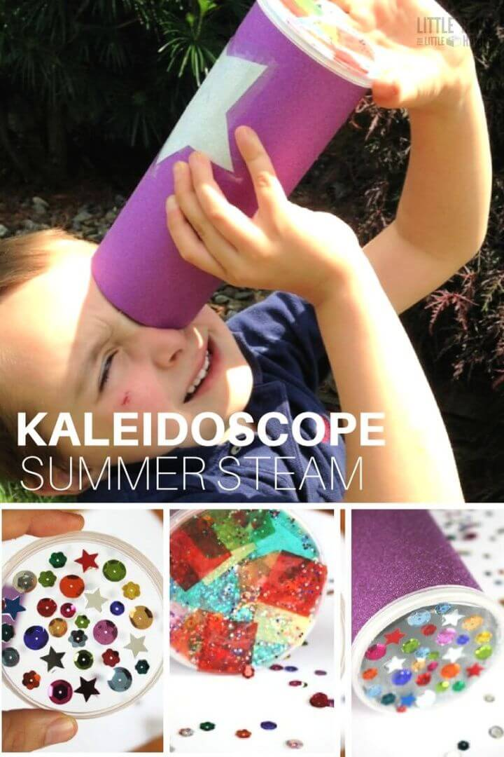 How To Make A Simple Kaleidoscope For Kids