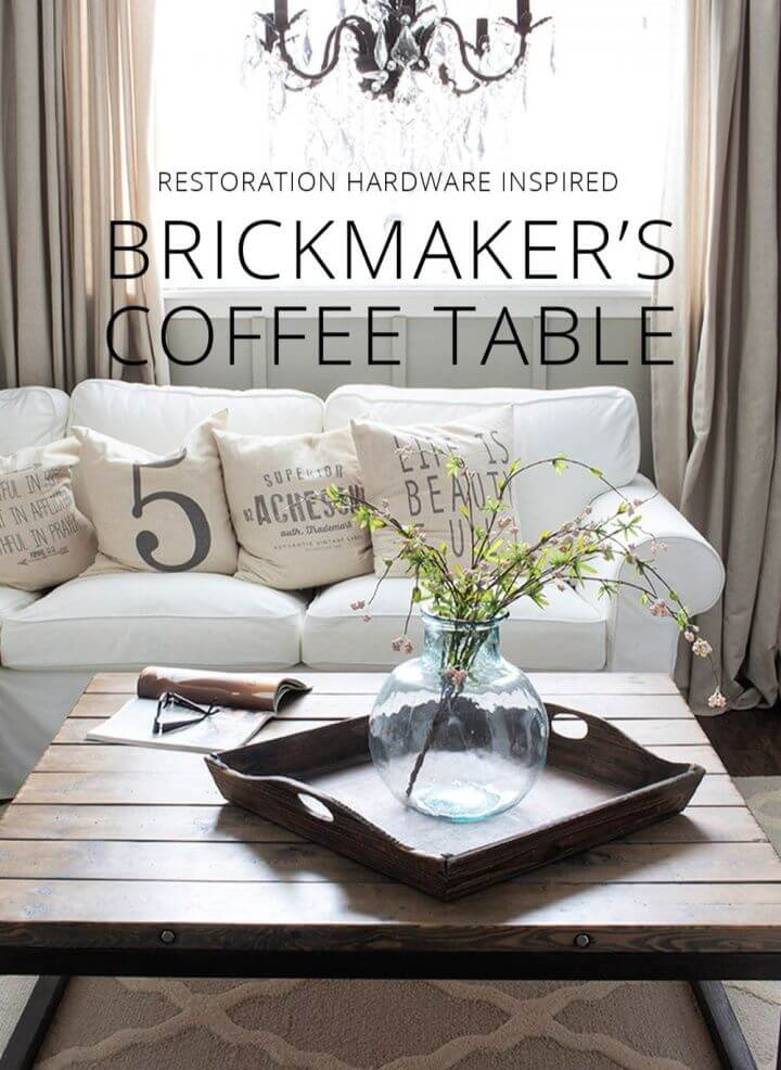How To Make DIY Brickmaker's Coffee Table