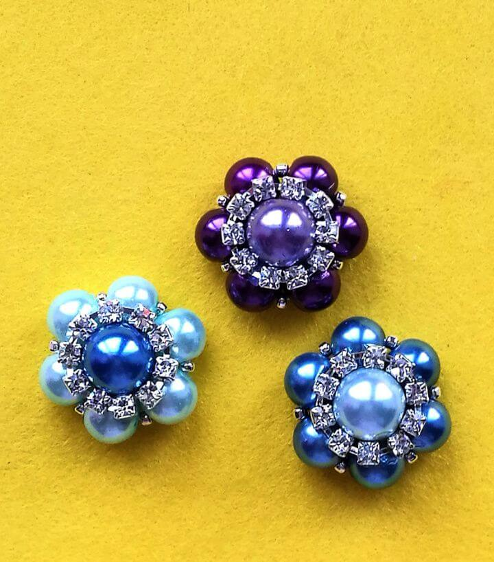 How To Make DIY Sparkly Beaded Flowers