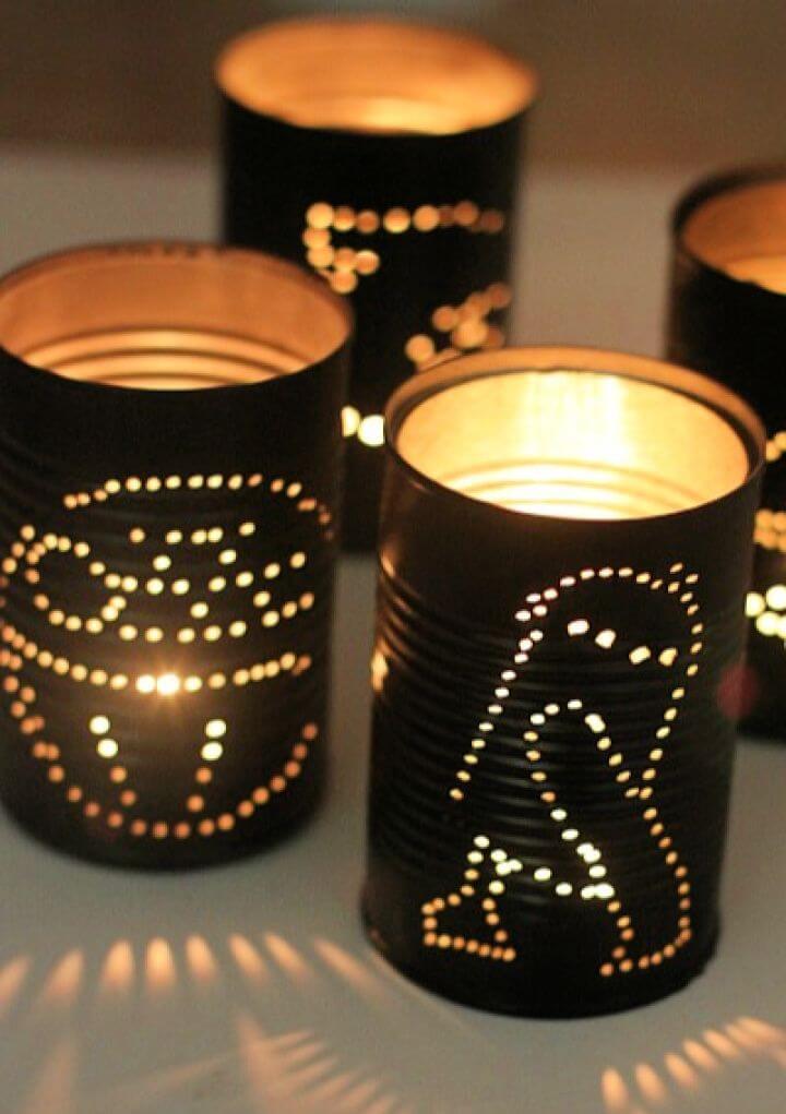 How To Make DIY Star Wars Tin Can Lanterns