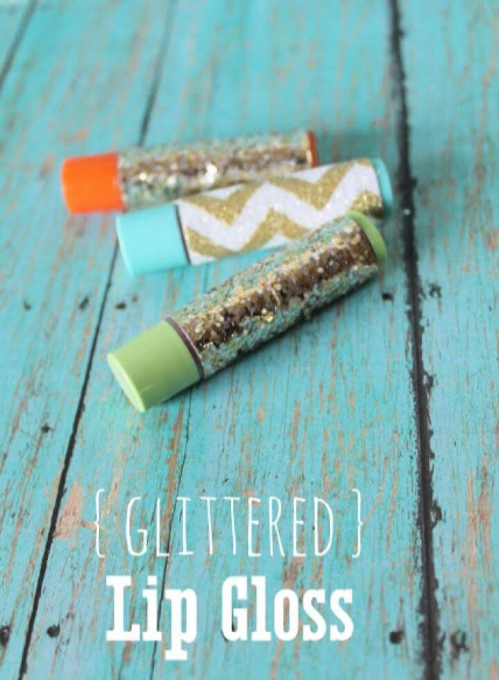 How To Make Glittered Chapstick For Friends