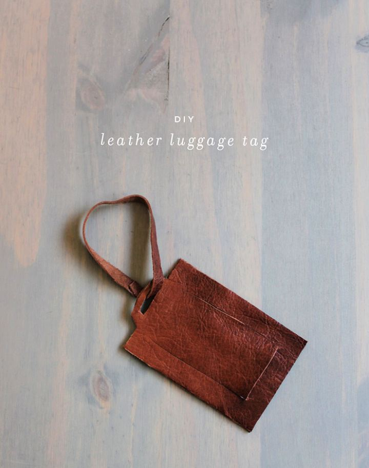 How To Make Leather Luggage Tag