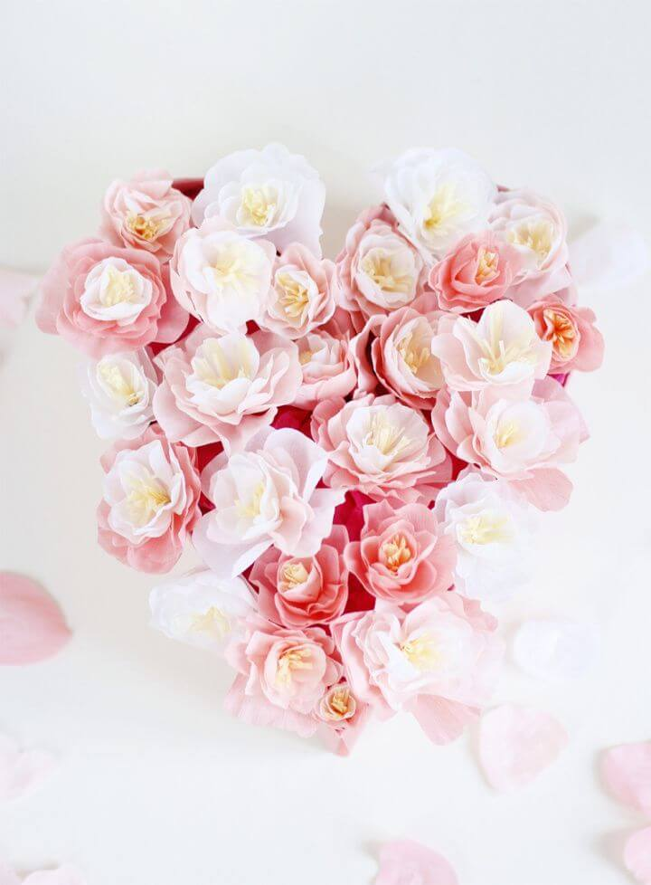 How To Make Paper Flower Heart