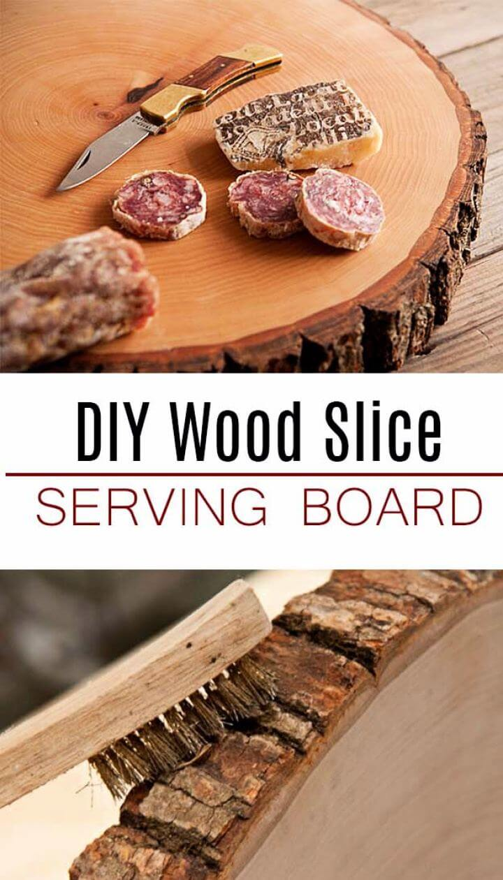 How To Make Wood Slice Serving Board For Men