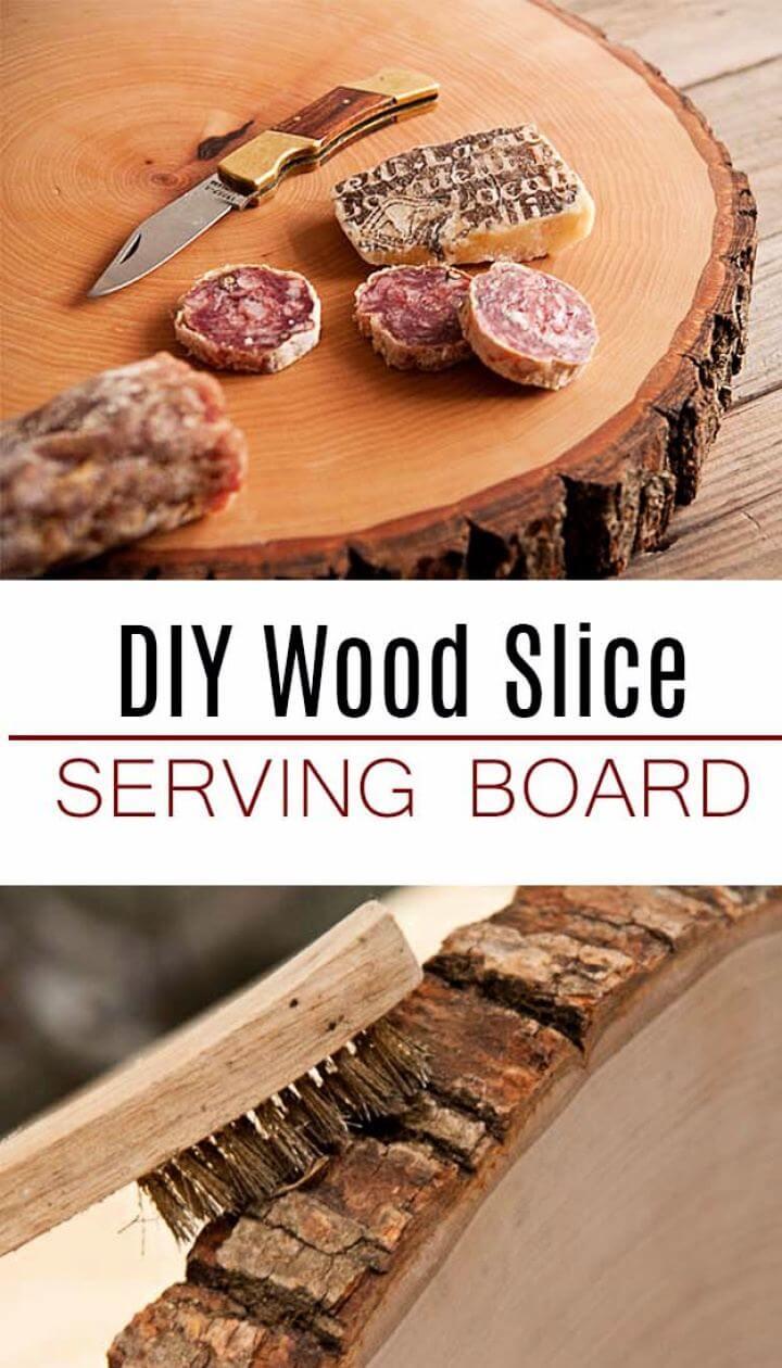 How To Make Wood Slice Serving Board For Men