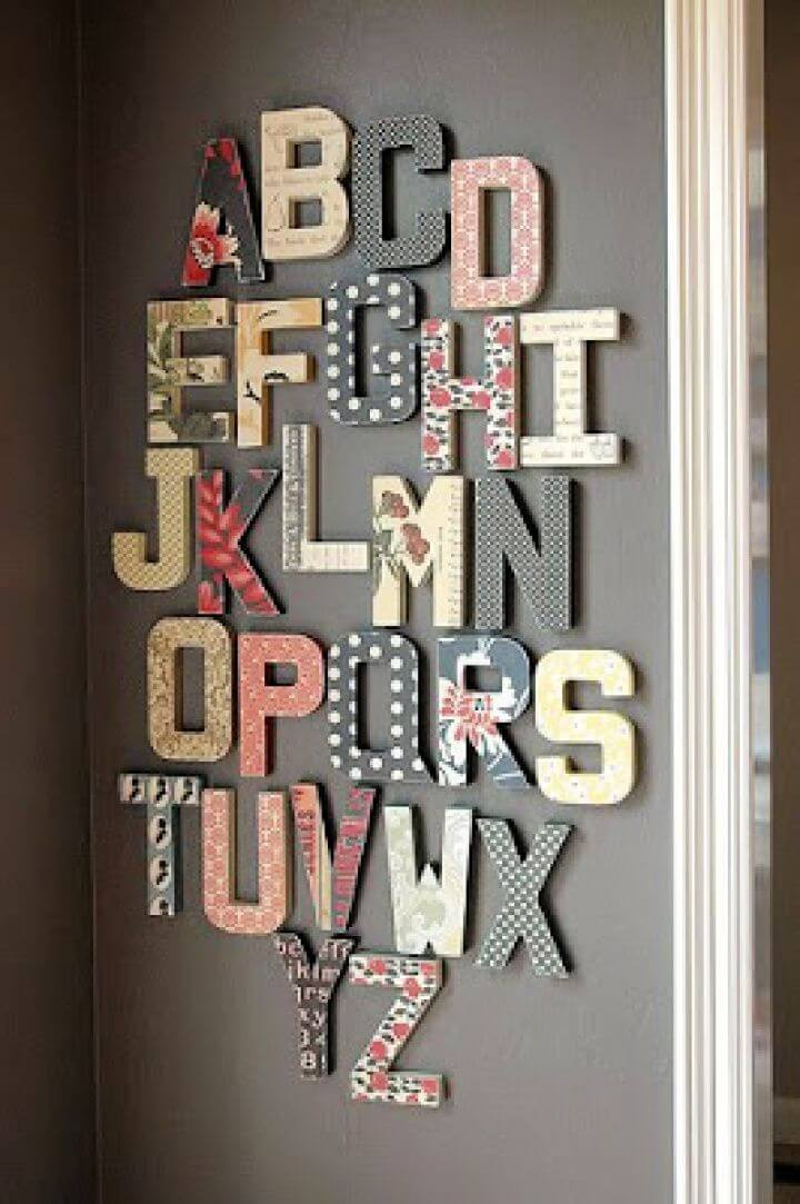 How To Make Your Own Alphabet Wall