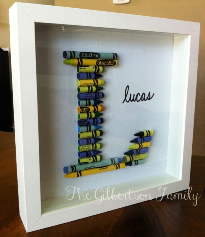 How To Make Your Own DIY Crayon Letter