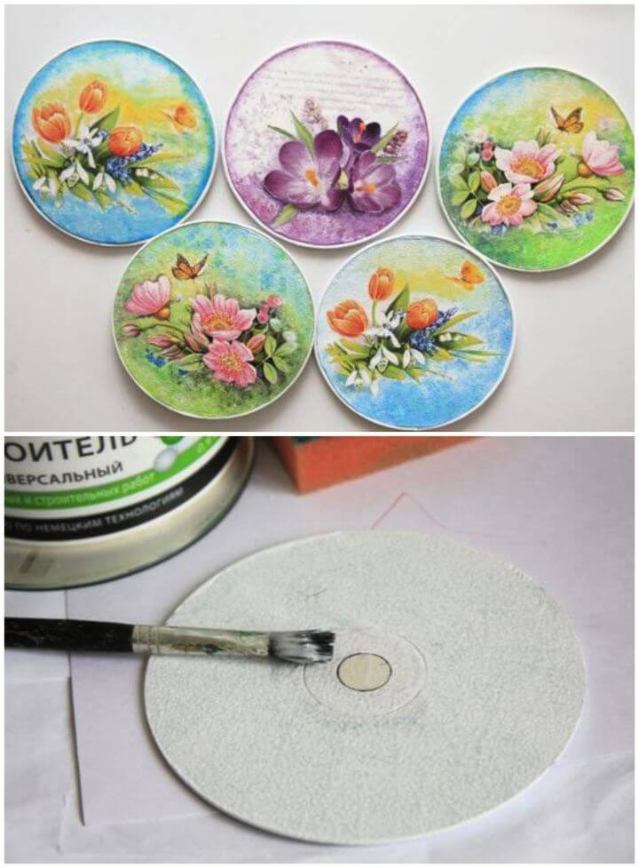 How To Make Your Own DIY Decoupaged CDs