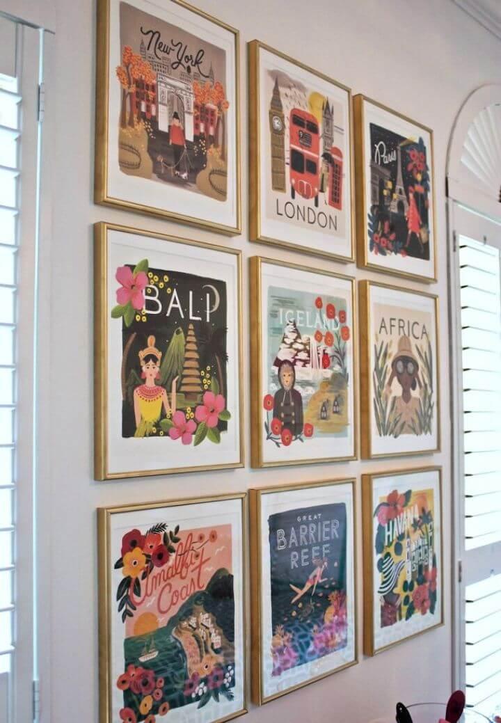 How To Make Your Own DIY Framed Calendar Prints
