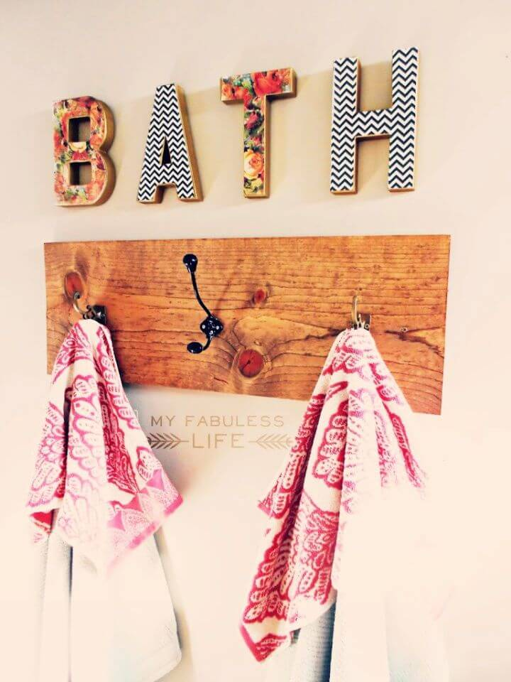 How To Make Your Own DIY Towel Rack