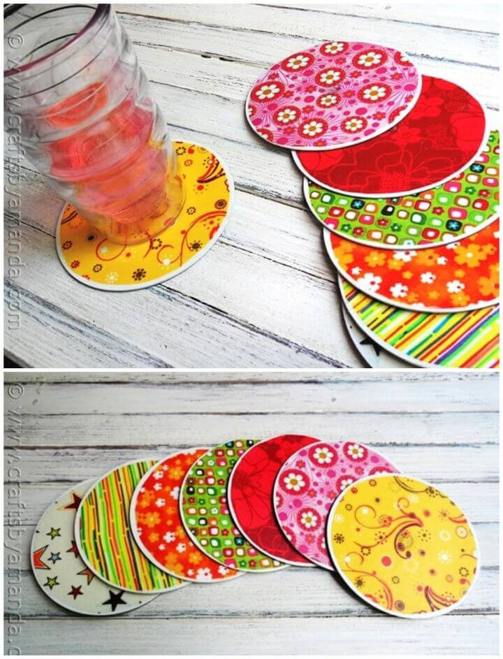 How To Recycled CD Coasters